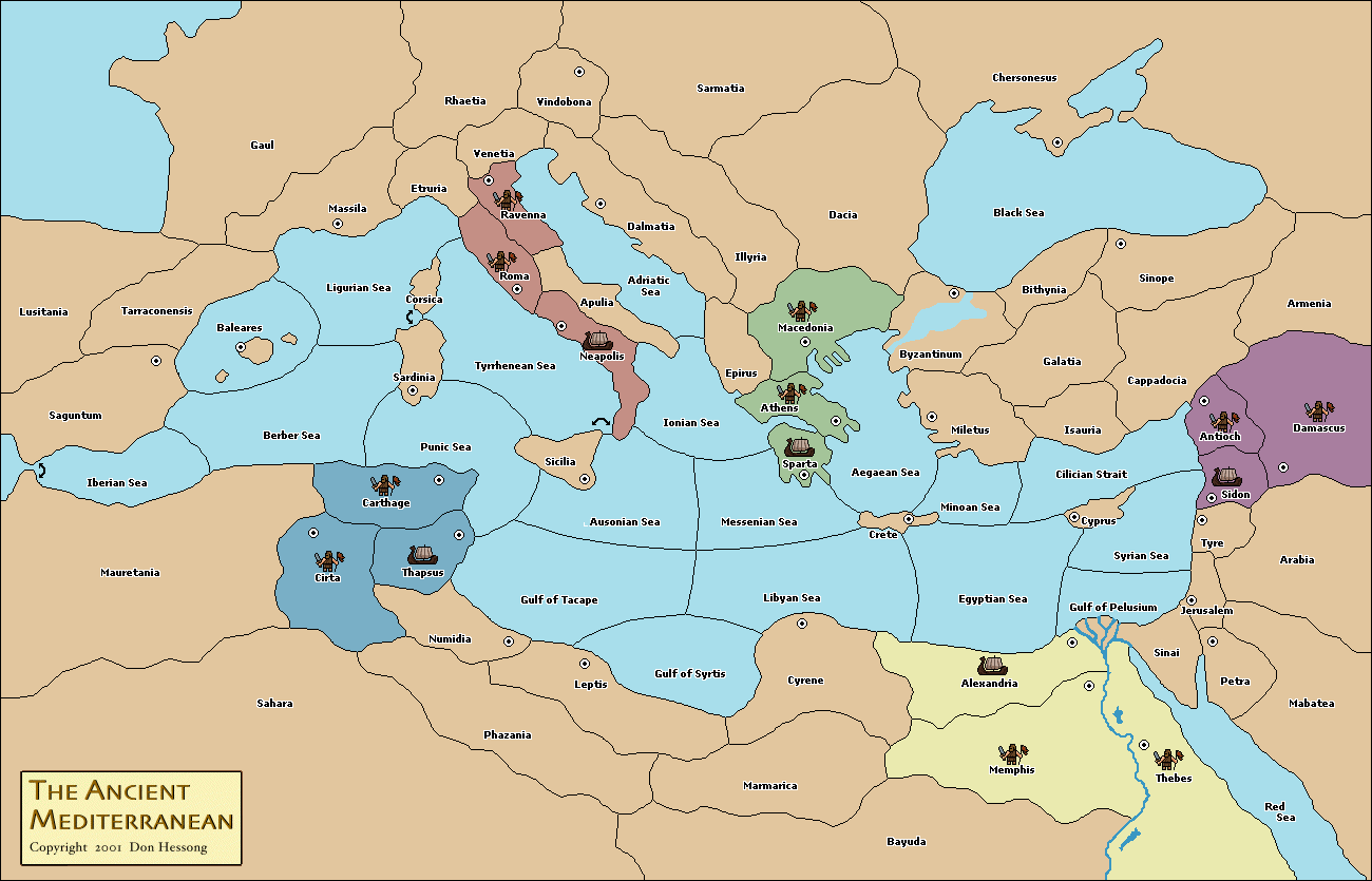 Ancient Mediterranean Map Variants   vDiplomacy